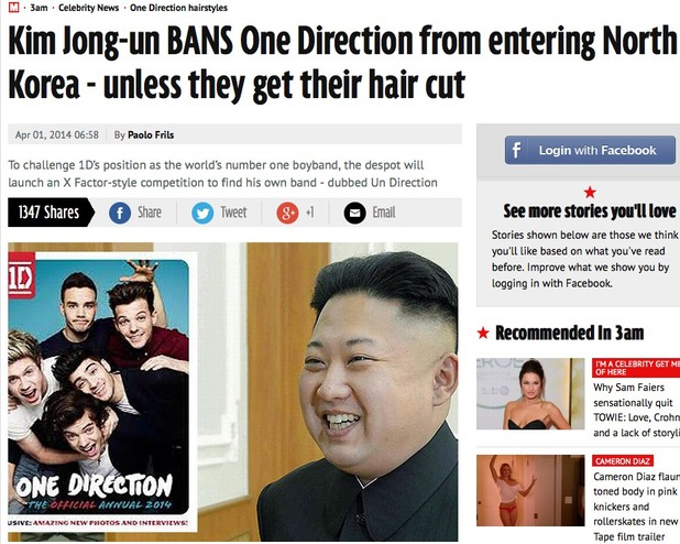 Mirror's One Direction April Fools'