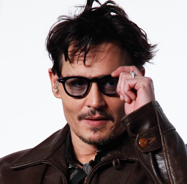 Johnny Depp at the Transcendence press conference in Beijing