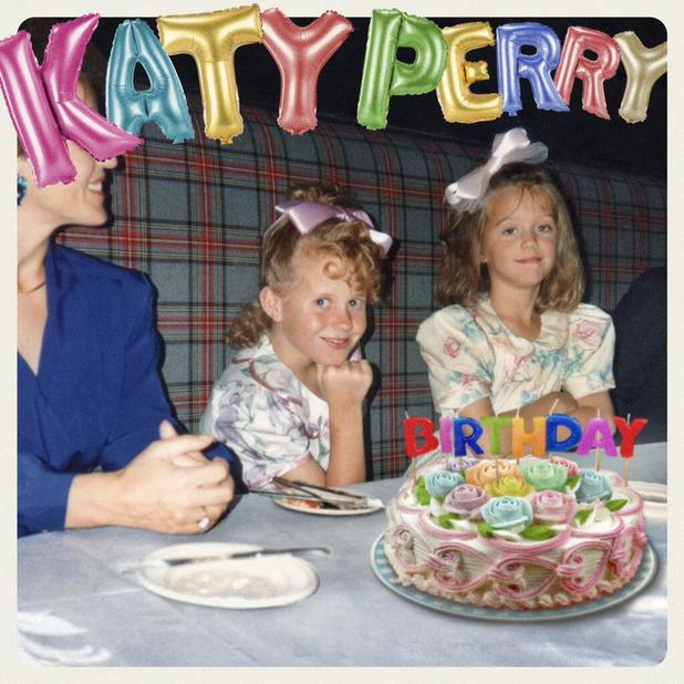 Katy Perry 'Birthday' single artwork.