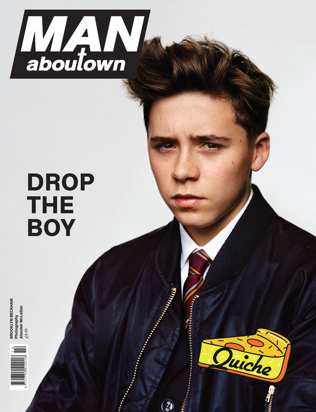 Brooklyn Beckham on the cover of Man About Town