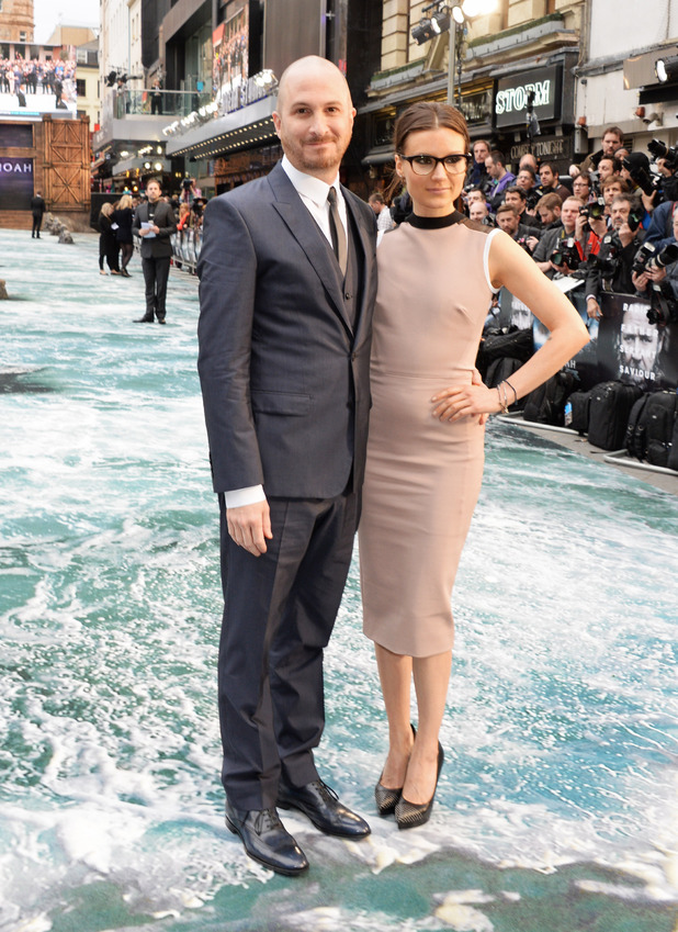 Darren Aronofsky and Brandi-Ann Milbradt at the UK Premiere of Noah at Odeon Leicester Square