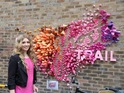 See pictures of the X Factor singer launching her campaign in London's Borough Market.