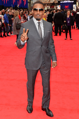 Caption:LONDON, ENGLAND - APRIL 10: Jamie Foxx attends the world premiere of 'The Amazing Spider-Man 2' at The Odeon Leicester Square on April 10, 2014 in London, England. (Photo by Dave J Hogan/Getty Images)