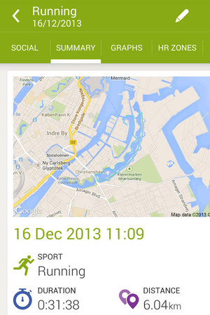 Endomondo app for Android