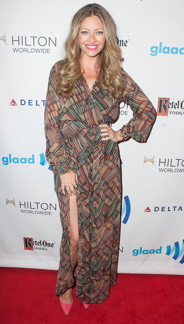 Rebecca Gayheart arrives at the GLAAD awards