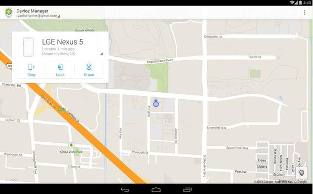 Android Device Manager - find a device