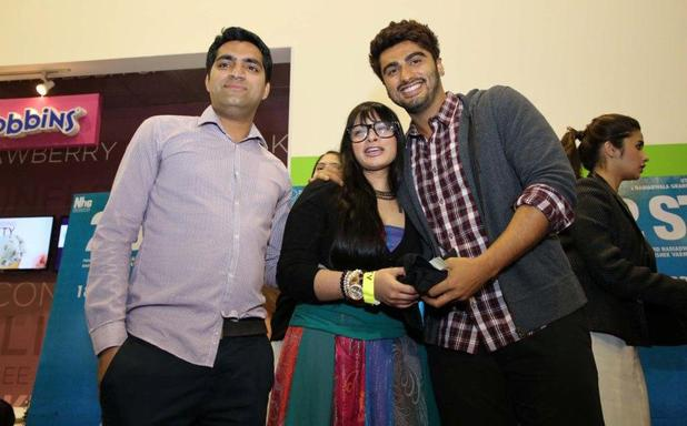 Arjun Kapoor with the contest winners