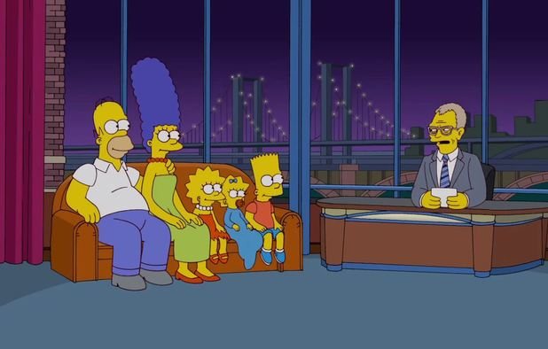 The Simpsons' Letterman Couch Gag