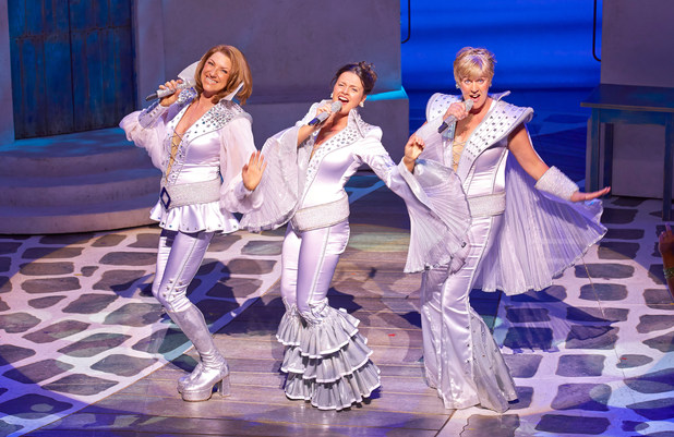 Kim Ismay, Dianne Pilkington and Jane Mulligan in Mamma Mia