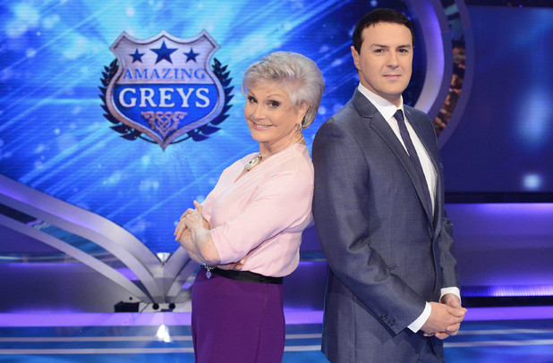 Angela Rippon and Paddy McGuinness on Amazing Greys