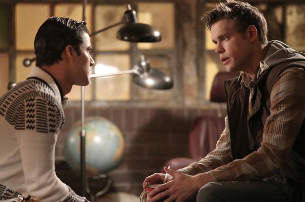 Darren Criss as Blaine & Chord Overstreet as Sam in Glee S05E15: 'Bash'