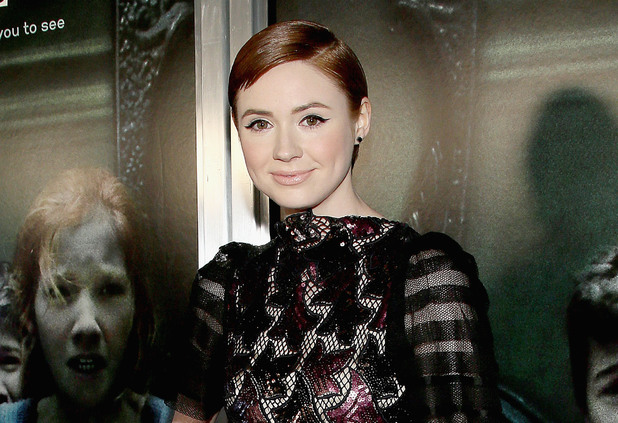 Karen Gillan arrives at the screening of Relativity Media's 'Oculus' at TLC Chinese 6 Theatres