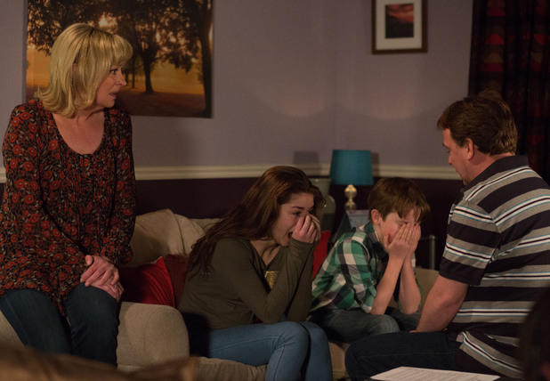 Cindy and Bobby break down as Ian tells them Lucy is dead