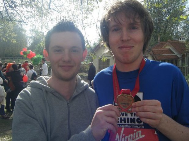 Digital Spy's Matthew Reynolds after finishing the London Marathon