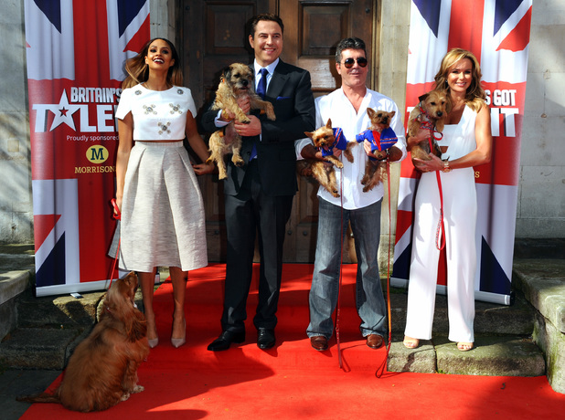 Caption:LONDON, ENGLAND - APRIL 09: Alesha Dixon, David Walliams, Simon Cowell and Amanda Holden attend a photocall for 'Britain's Got Talent' at St Luke's Church on April 9, 2014 in London, England. (Photo by Anthony Harvey/Getty Images)