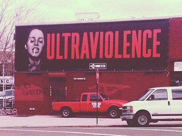 Lana Del Rey 'Ultraviolence' billboard in Brooklyn.