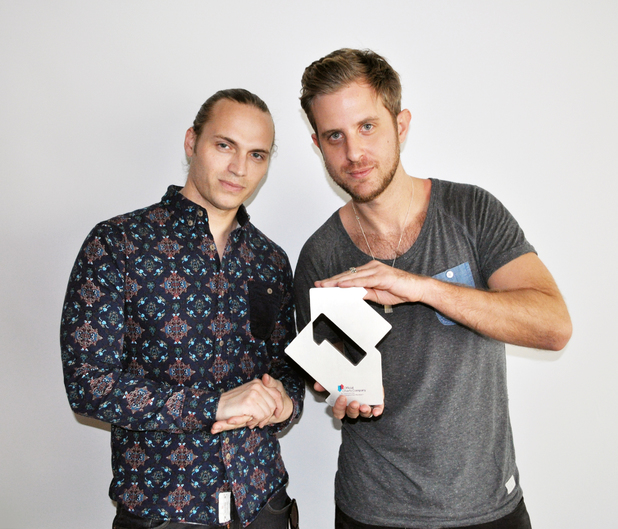 Sigma with Official Number 1 Award for 'Nobody To Love'