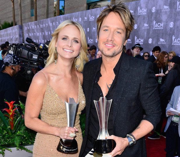 Keith Urban and Miranda Lambert at the 49th Annual Academy Of Country Music Awards (ACM Awards 2014)