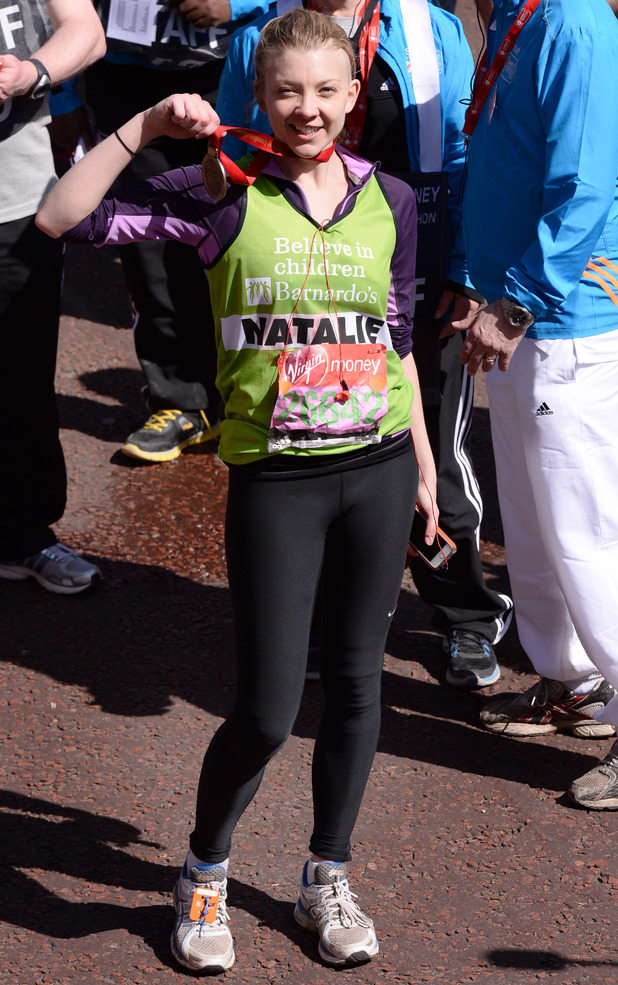Natalie Dormer , The London Marathon 2014,