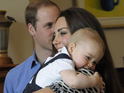 The Duke and Duchess of Cambridge take their son to a playgroup in New Zealand.