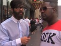 Rapper asks people what they really think of him on the streets of Hollywood.