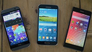Samsung Galaxy S5 vs HTC One (M8) vs Sony Xperia Z2
