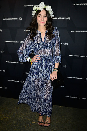 INDIO, CA - APRIL 12: Emmy Rossum arrives at the Alexander Wang X H&M Coachella Party held at the Indio Performing Arts Center on April 12, 2014 in Indio, California. (Photo by Jerod Harris/Getty Images for H&M)