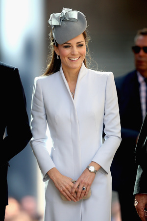 Kate Middleton arriving at St. Andrew's Cathedral for Easter Sunday Service in Sydney, Australia
