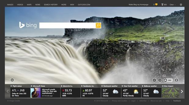 Microsoft's Bing search engine