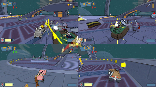 Cel Damage HD split-screen multiplayer screenshot