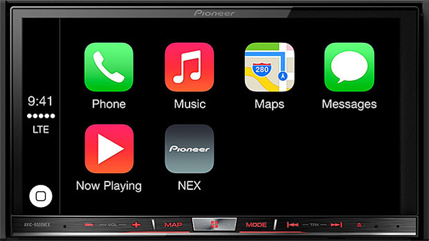 CarPlay running on Pioneer hardware