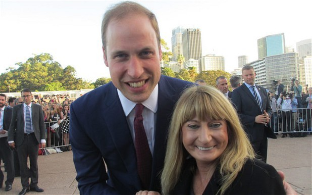 Prince William and fan in Sydney