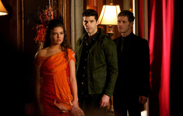 Danielle Campbell as Davina, Steven Krueger as Josh and Joseph Morgan as Klaus in The Originals S01E18: 'The Big Uneasy'