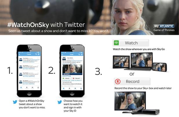 Sky's #WatchOnSky Twitter tool