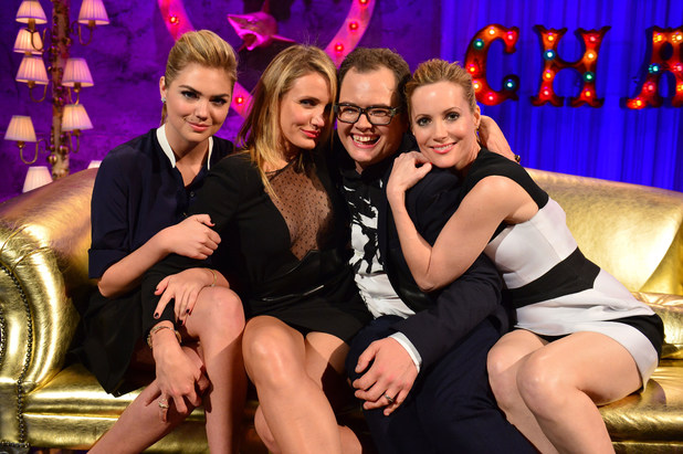 Cameron Diaz, Kate Upton, Leslie Mann and Alan Carr on chatty man