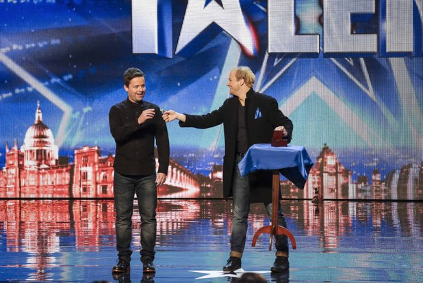 Britain's Got Talent act Alex Lodge with Dec