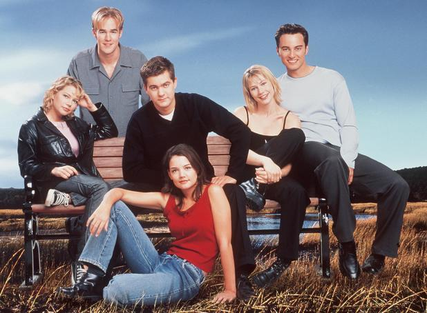 James Van Der Beek, Michelle Williams, Joshua Jackson, Meredith Monroe, Kerr Smith and Katie Holmes: The cast of Dawson's Creek