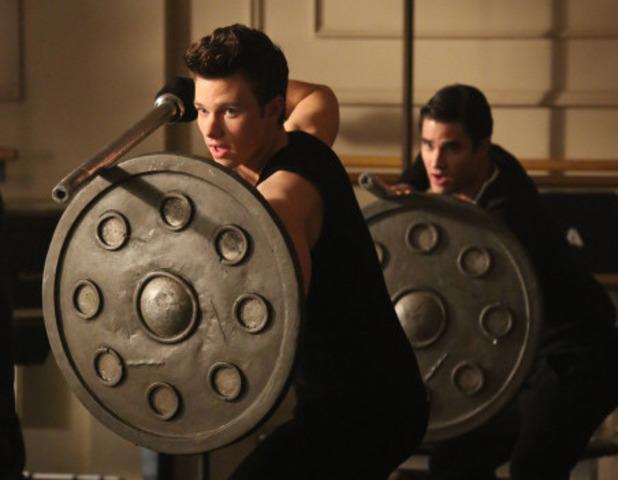 Chris Colfer as Kurt & Darren Criss as Blaine in Glee S05E15: 'Tested'