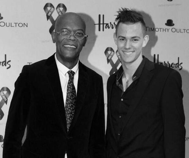 Samuel L Jackson and West Ham player Dylan Tombides