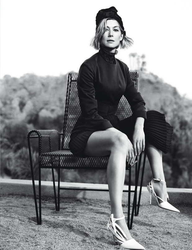 Rosamund PIke in W magazine