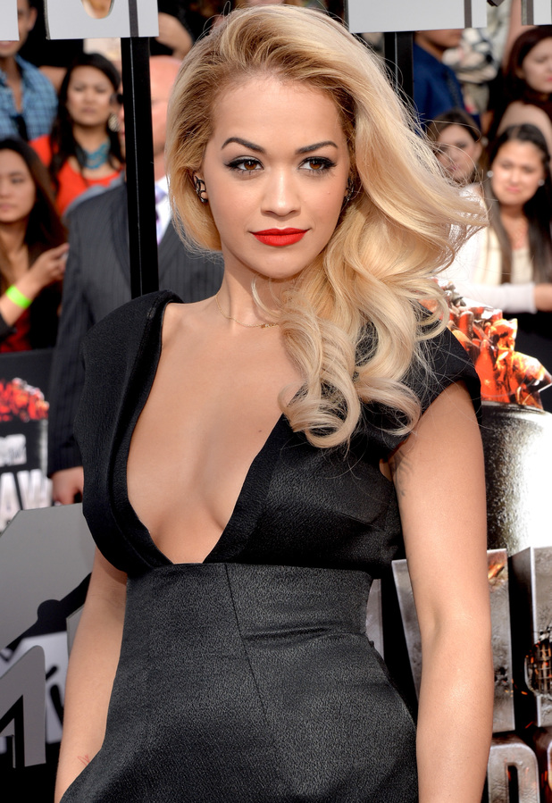 Rita Ora arrives for the MTV Movie Awards 2014