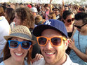 The Breaking Bad star gives a couple the best festival photo ever.