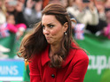 The Duchess of Cambridge shows off cricket skills in heels during official tour.