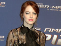 Emma Stone looks chic at the premiere for the superhero sequel in Rome.