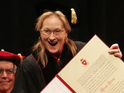 Meryl Streep receives a Conferral Honorary Degree
