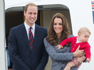 CANBERRA, AUSTRALIA - APRIL 25: Prince William, Duke of Cambridge, Catherine, Duchess of Cambridge and Prince George of Cambridge depart Australia from Defence Establishment Fairbairn on April 25, 2014 in Canberra, Australia. The Duke and Duchess of Cambridge are on a three-week tour of Australia and New Zealand, the first official trip overseas with their son, Prince George of Cambridge. (Photo by Samir Hussein/WireImage)
