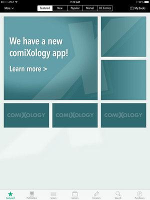Former iOS comiXology app