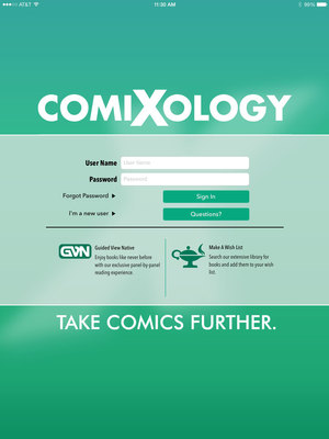 New comiXology app