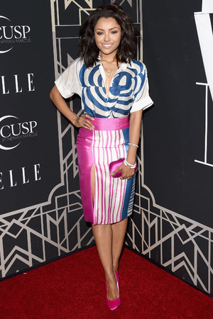 HOLLYWOOD, CA - APRIL 22: Actress Kat Graham attends the 5th Annual ELLE Women in Music Celebration presented by CUSP by Neiman Marcus. Hosted by ELLE Editor-in-Chief Robbie Myers with performances by Sarah McLachlan, Angel Haze and Betty Who, with special DJ set by Rumer Willis at Avalon on April 22, 2014 in Hollywood, California. (Photo by Jason Merritt/Getty Images for ELLE)