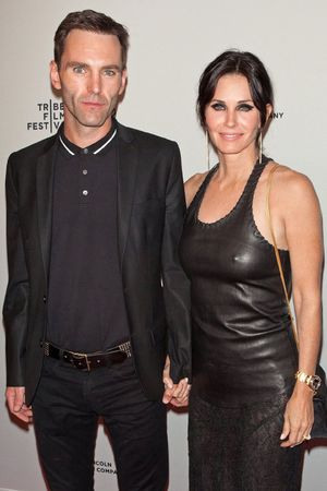 'Just Before I Go' film premiere, Tribeca Film Festival, New York, America - 24 Apr 2014 Johnny McDaid and Courteney Cox